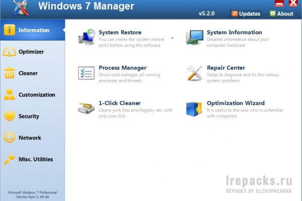 Windows 7 Manager 5.2.0 (Repack & Portable)